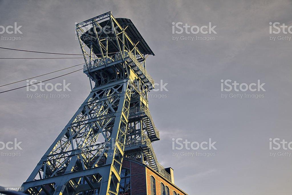coal mine shaft tower royalty-free stock photo