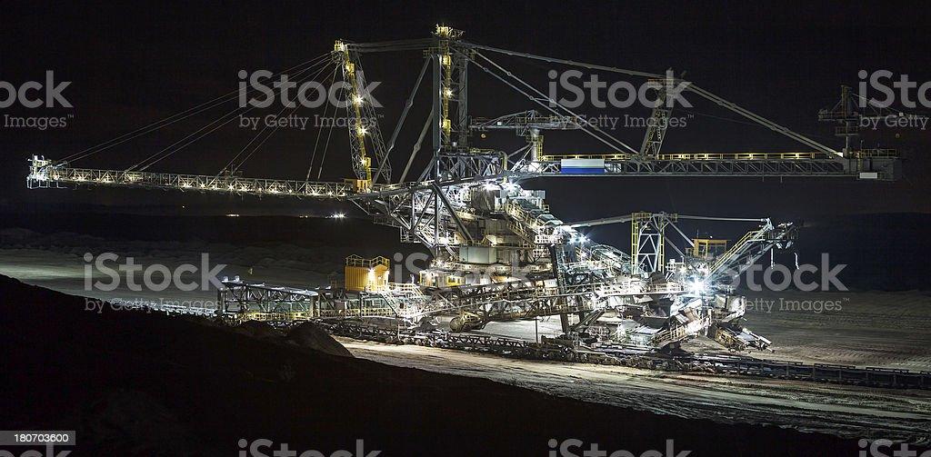 Coal mine stacker royalty-free stock photo