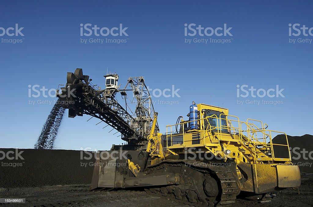 Coal Mine Stacker/Reclaimer royalty-free stock photo