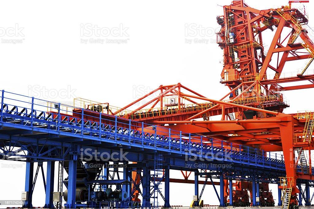 coal mine tower royalty-free stock photo