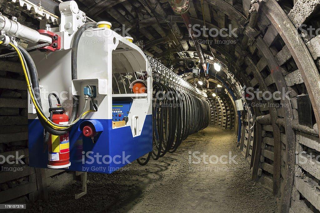 Coal Mine Transporter stock photo