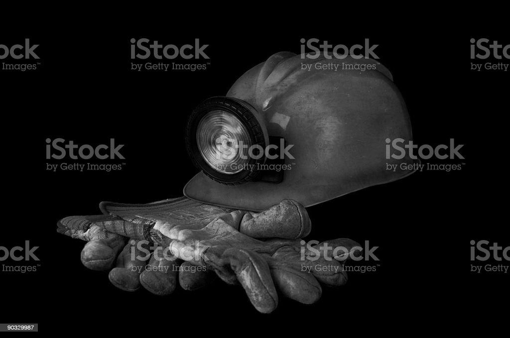 Coal Miner Gear royalty-free stock photo