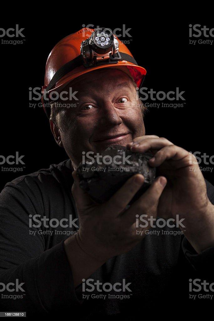 Coal miner royalty-free stock photo