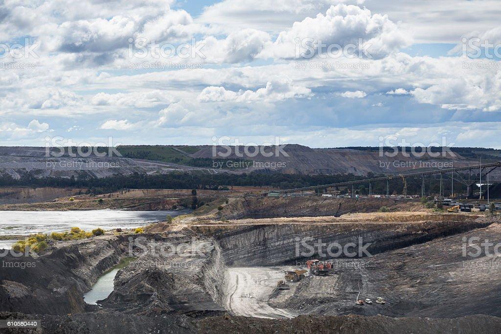 Coal Mining in Nsw. stock photo