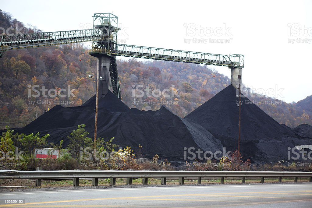 Coal Mining in West Virginia stock photo