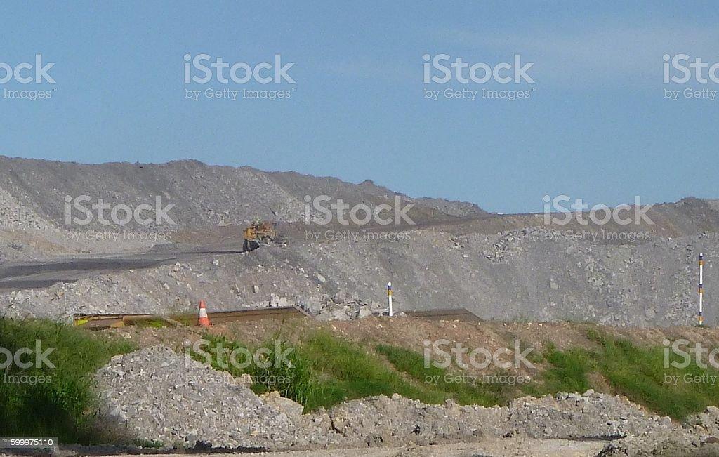 coal mining lunar landscape stock photo