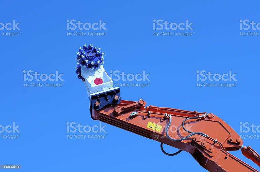 Coal mining machine head stock photo