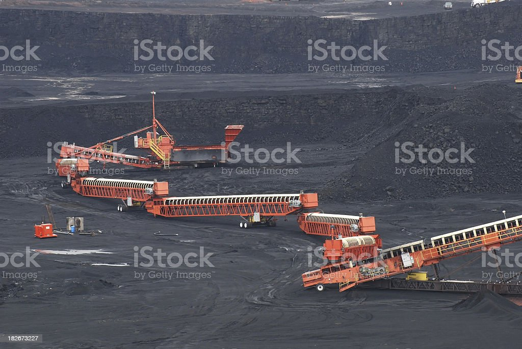 Coal mining operation in Wyoming stock photo