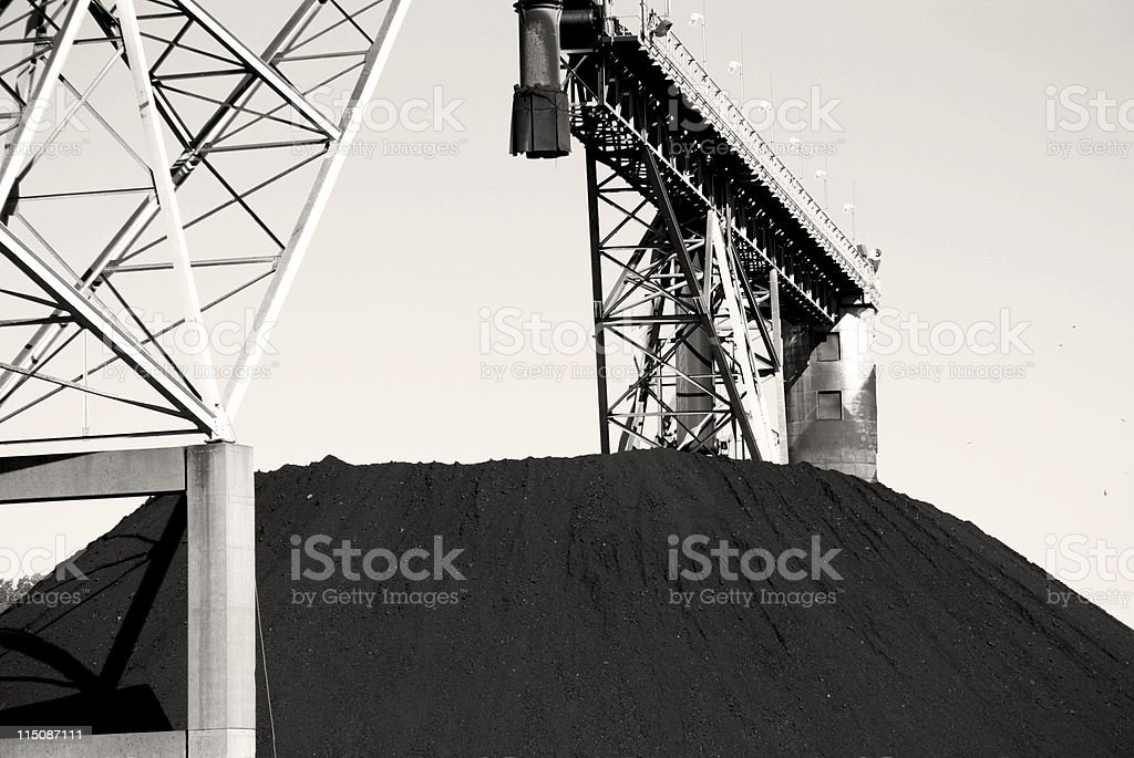 coal mound - fossil fuel stock photo