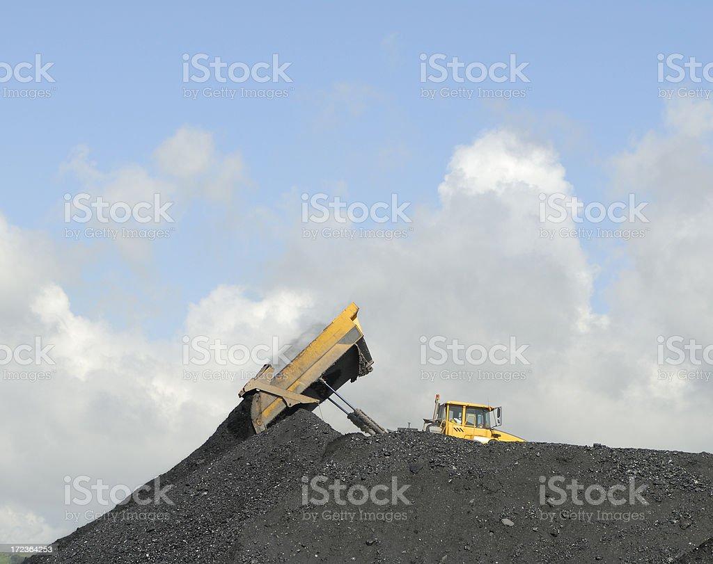 coal moving royalty-free stock photo