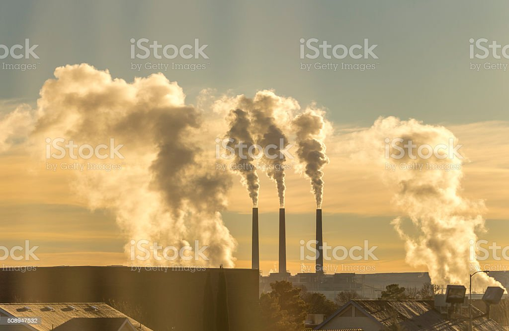 Coal Power Plant, Salt River Project: Navajo Generating Station stock photo