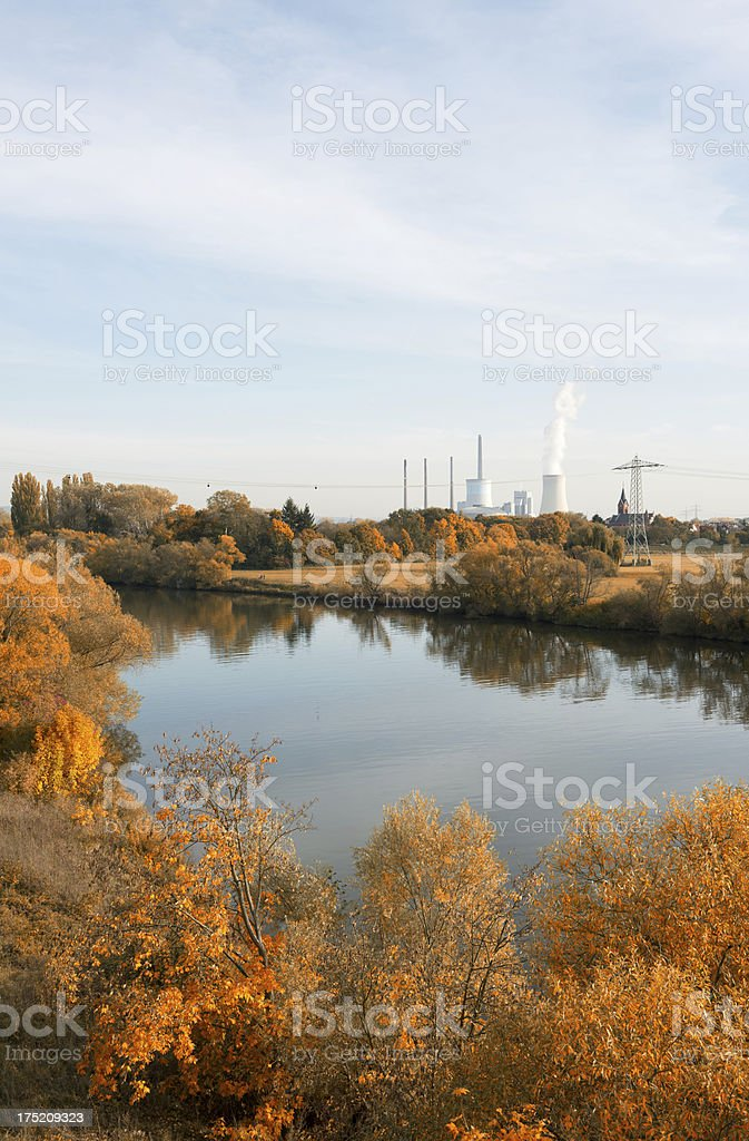 Coal Power Plant, Staudinger, Germany, Grosskrotzeburg, Energiewende stock photo