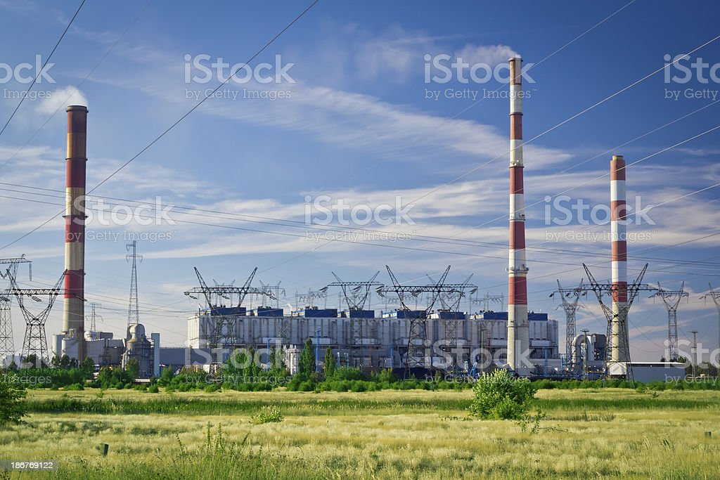 Coal Power Station, Dolna Odra, Poland stock photo