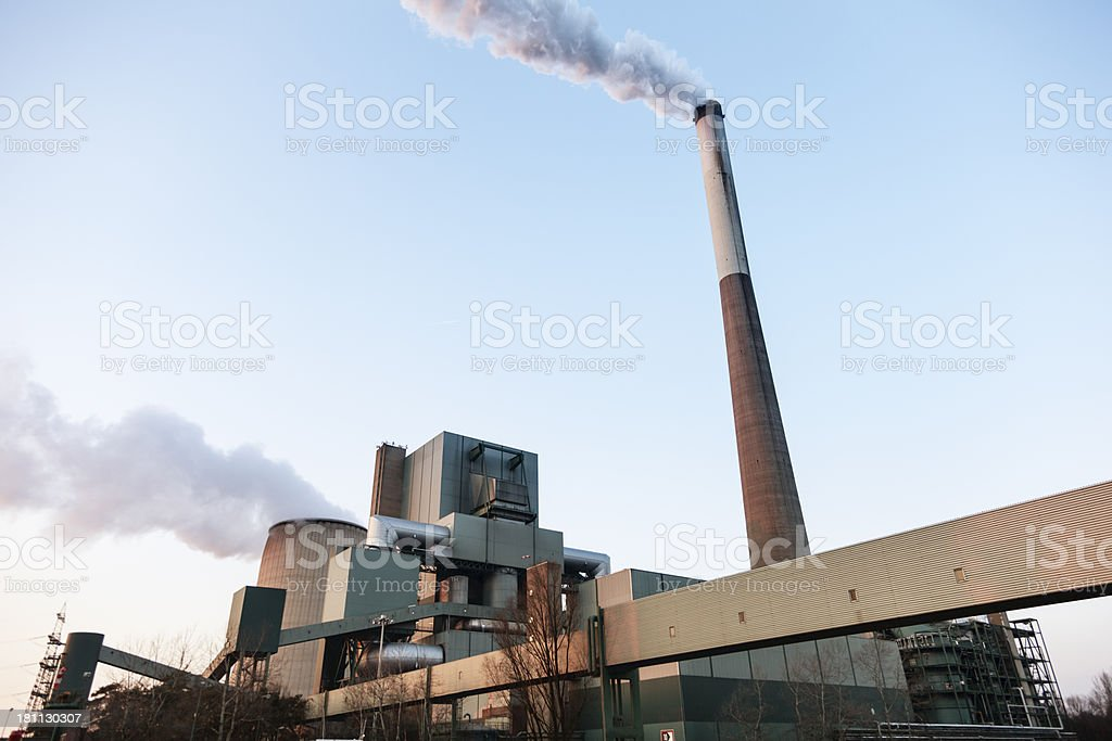 coal power station royalty-free stock photo