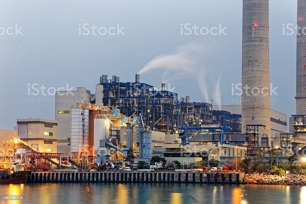 coal power station stock photo