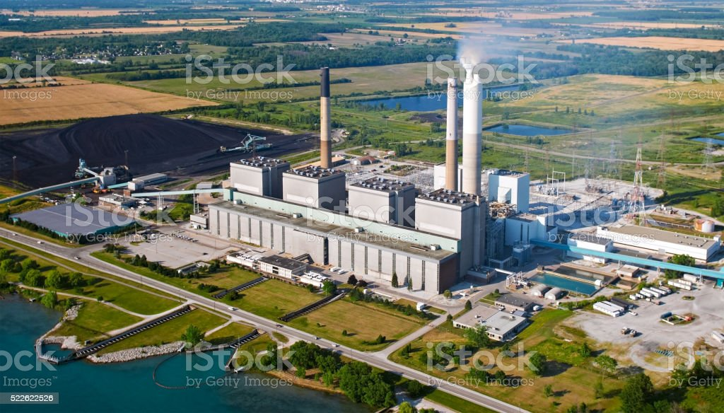 Coal Powerplant stock photo