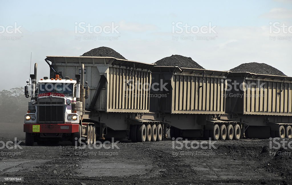 Coal Road Train royalty-free stock photo
