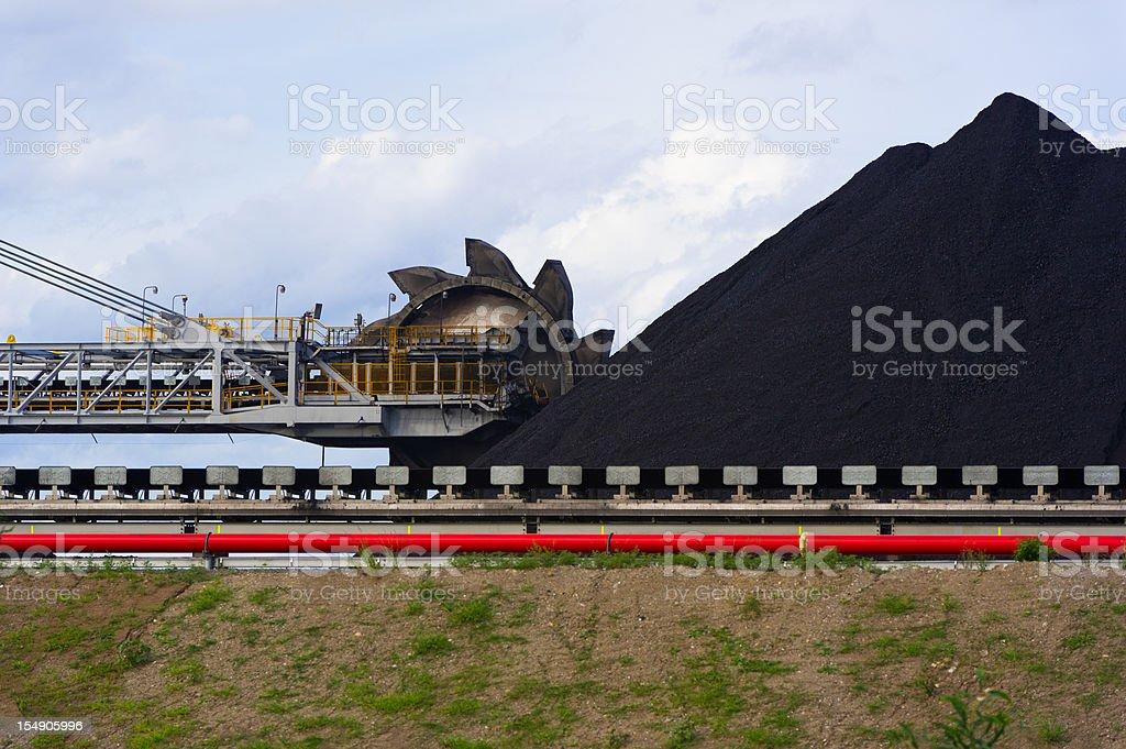 Coal Stacker Reclaimer on loading site in hunter stock photo