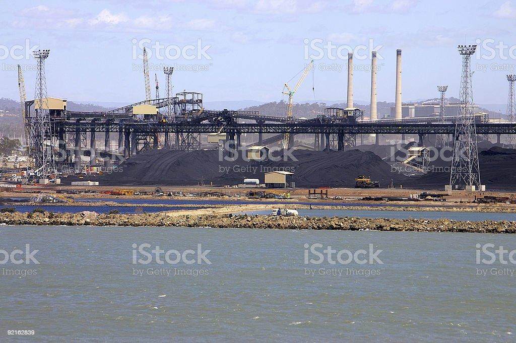 coal storage 2 stock photo