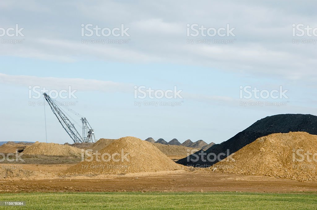 Coal Strip Mine, Open Pit Operation royalty-free stock photo