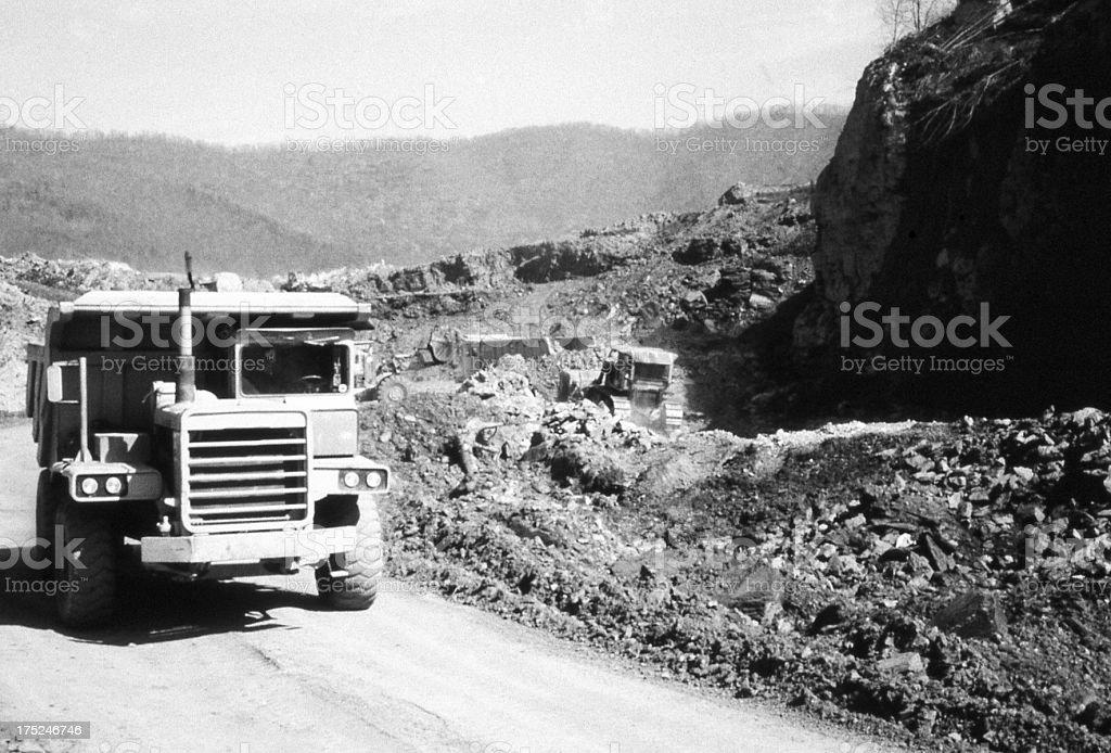 coal strip mine stock photo