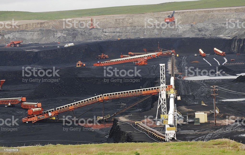 Coal strip mining, Gilette, Wyoming royalty-free stock photo