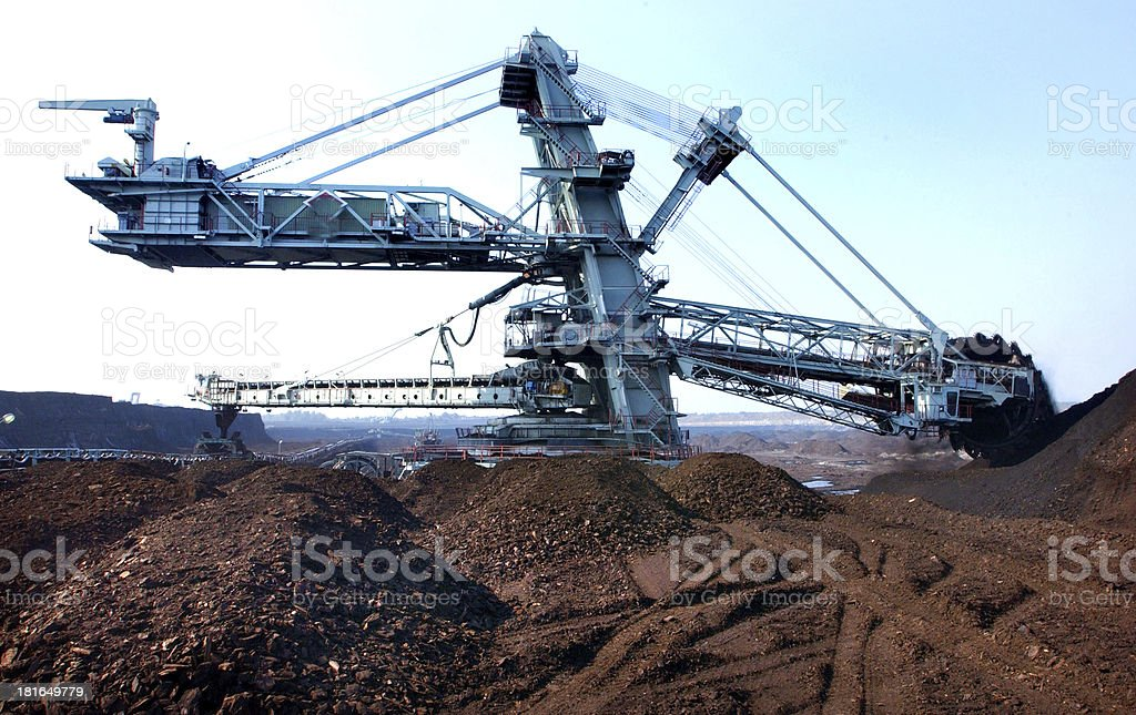 coal surface mining stock photo
