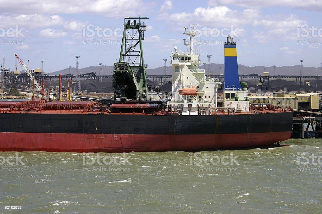 Coal terminal 1 stock photo