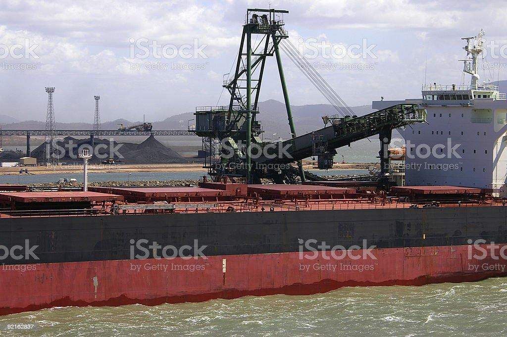 Coal terminal 2 stock photo