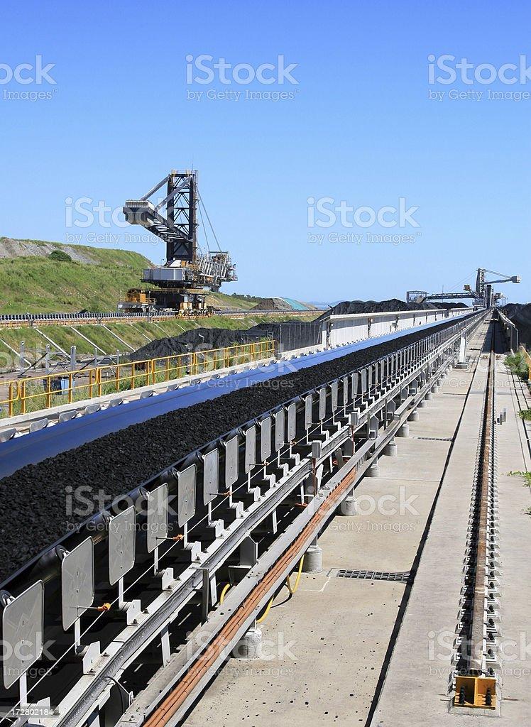 Coal Terminal Conveyor Belt royalty-free stock photo