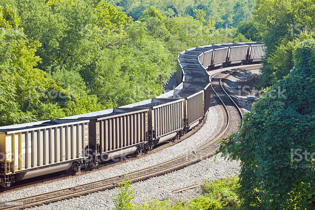 Coal Train In Nature royalty-free stock photo