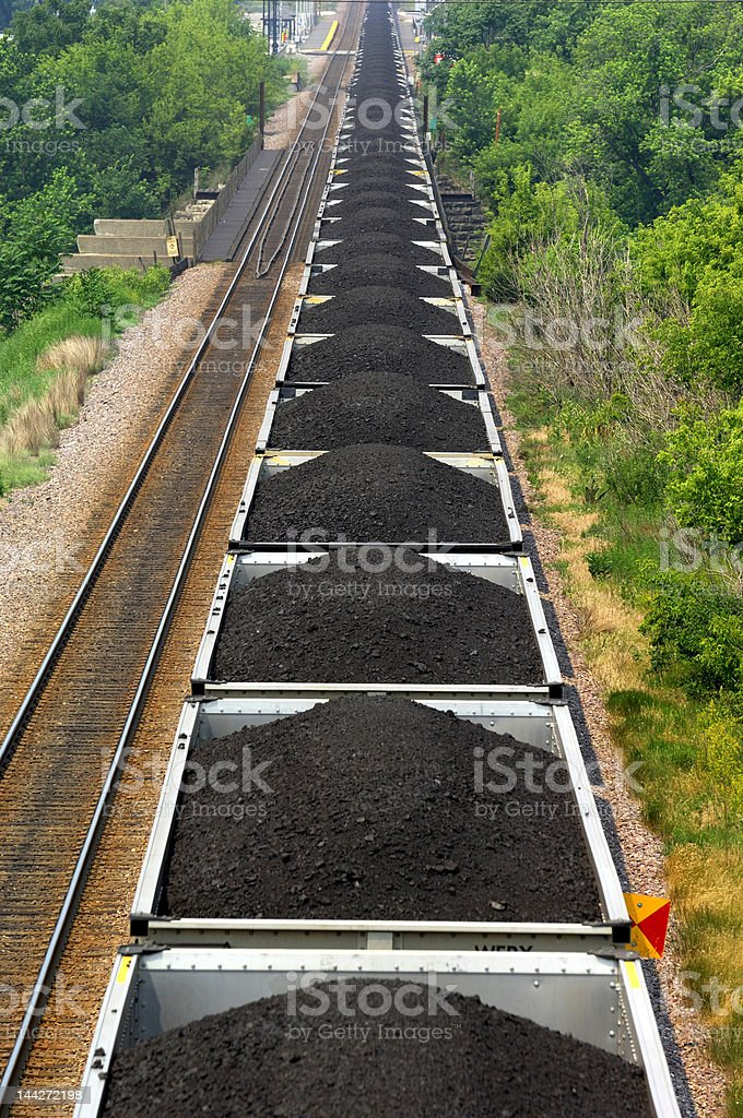 Coal Train stock photo