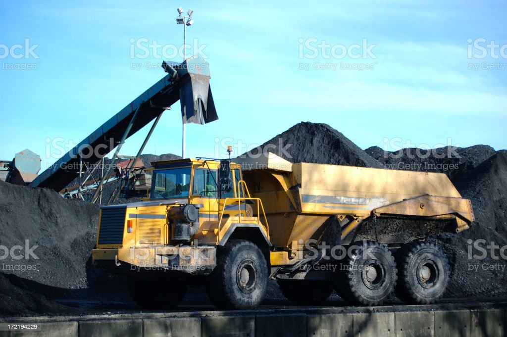 coal truck royalty-free stock photo