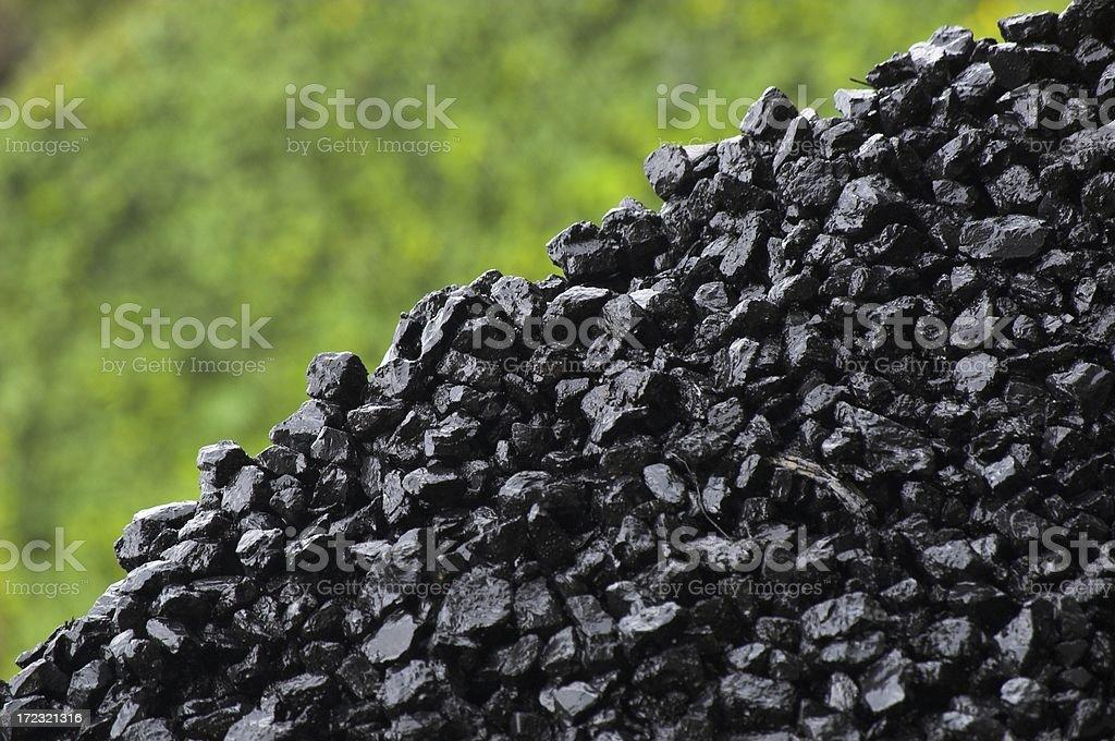 Coal - wet royalty-free stock photo