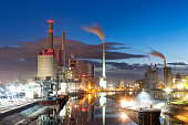 Coal-Fired Power Plant at Dusk, Germany