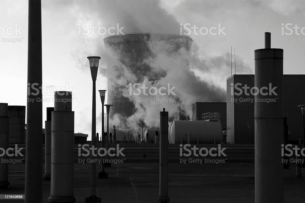 Coal-fired power plant royalty-free stock photo