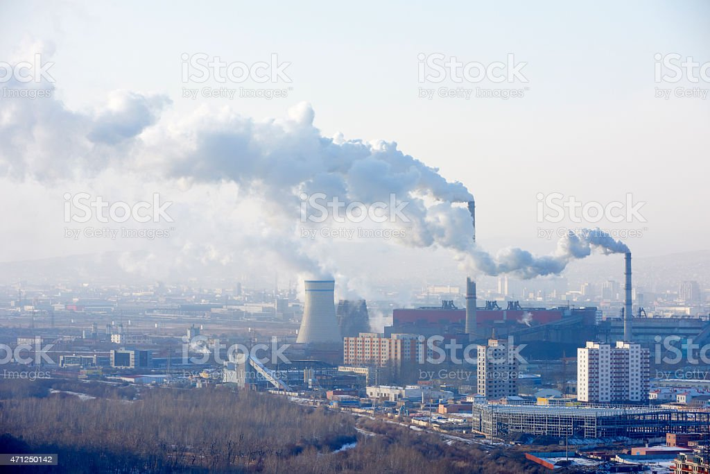 Coal-Fired Power Plant stock photo