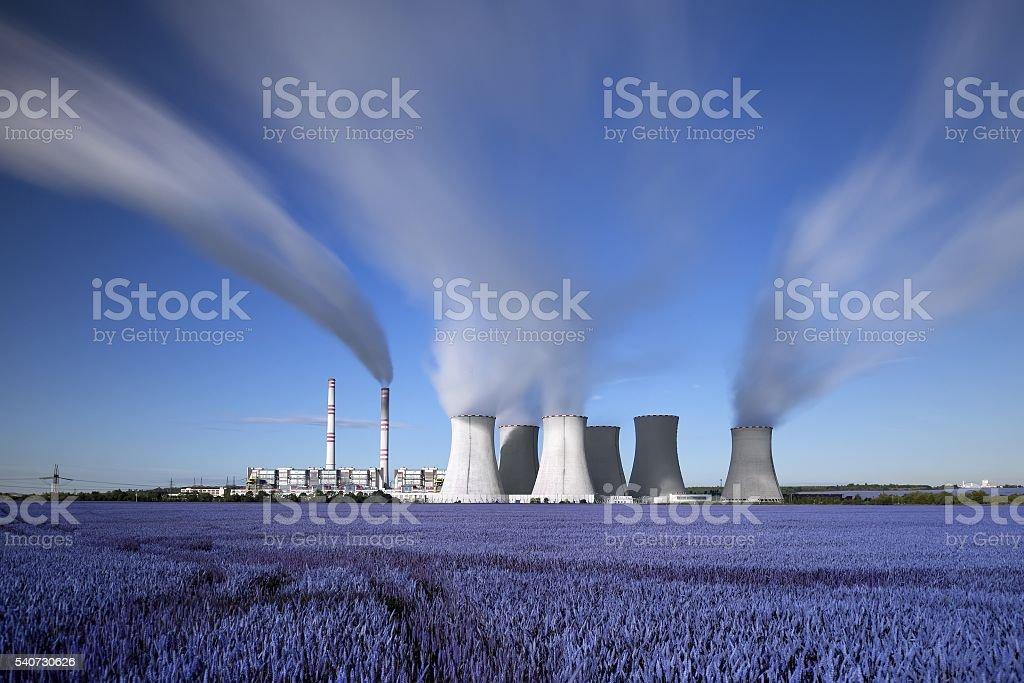 coal-fired power station in Czech republic stock photo