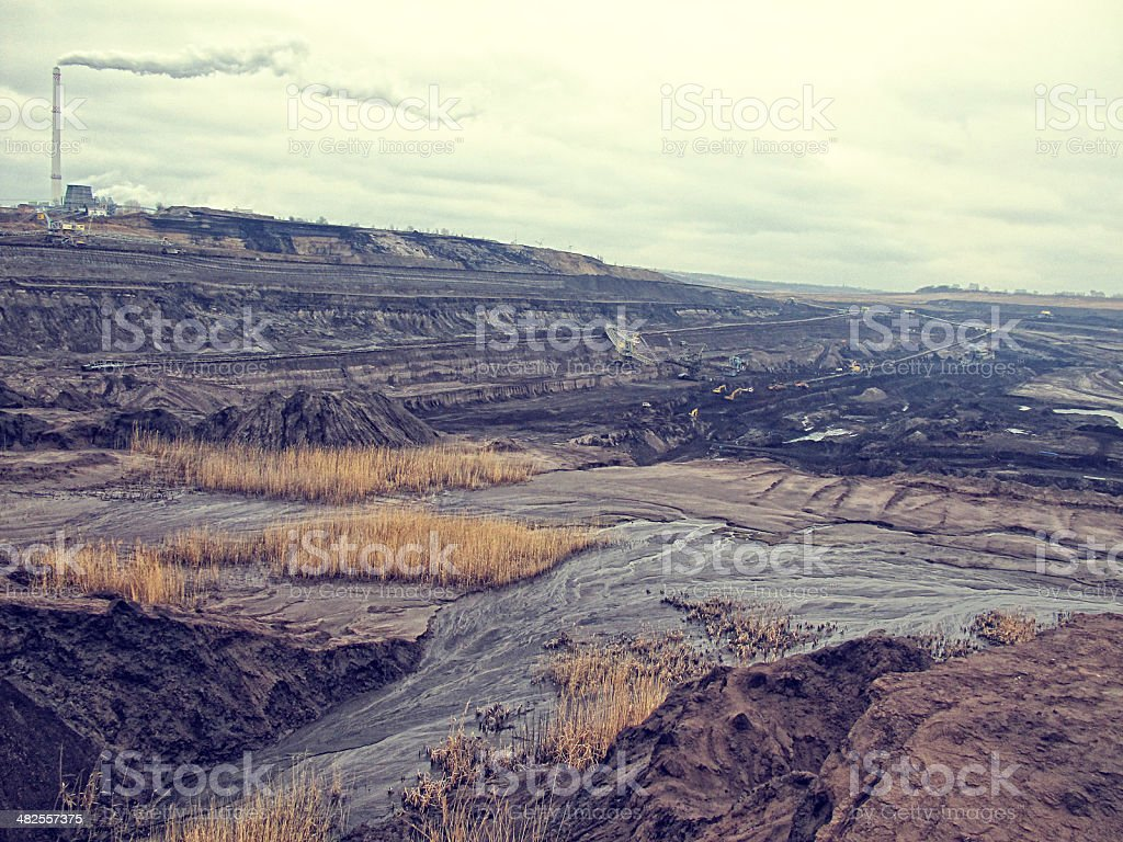 coal-fired power station stock photo