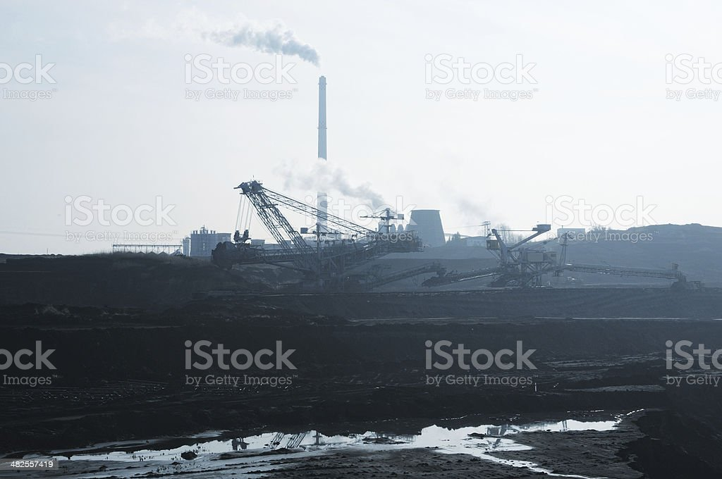 coal-fired power station royalty-free stock photo