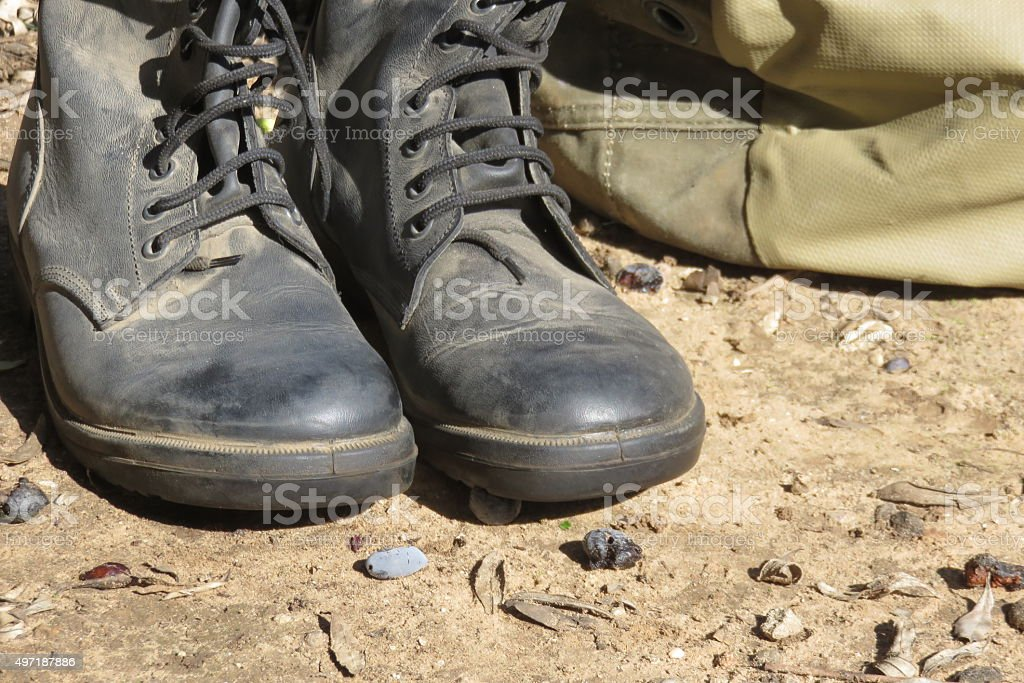 coalition troops in the Middle East Concept stock photo