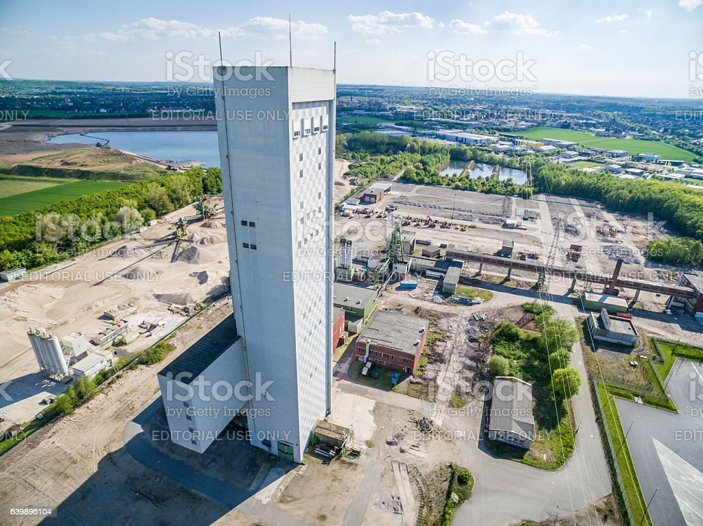 Coalmine Rossenray stock photo