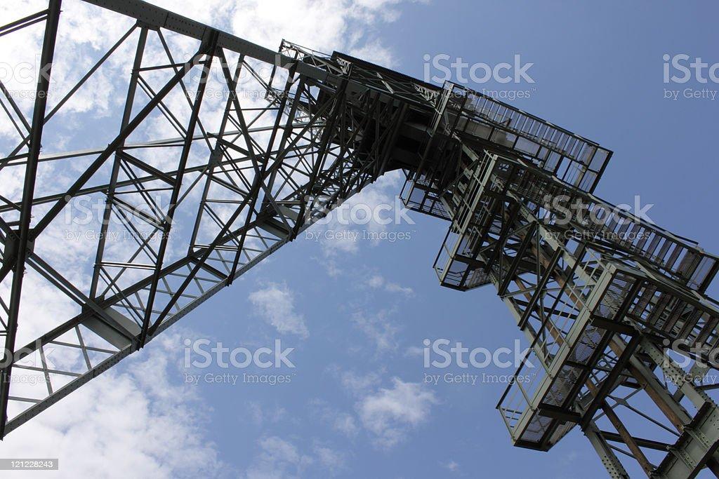 coalmine-tower royalty-free stock photo