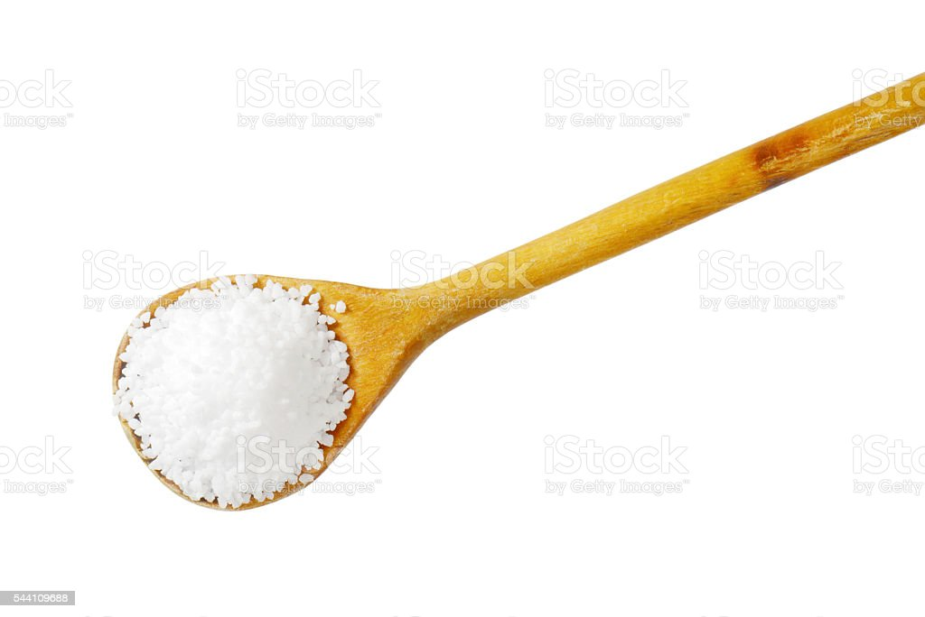 Coarse grained salt stock photo