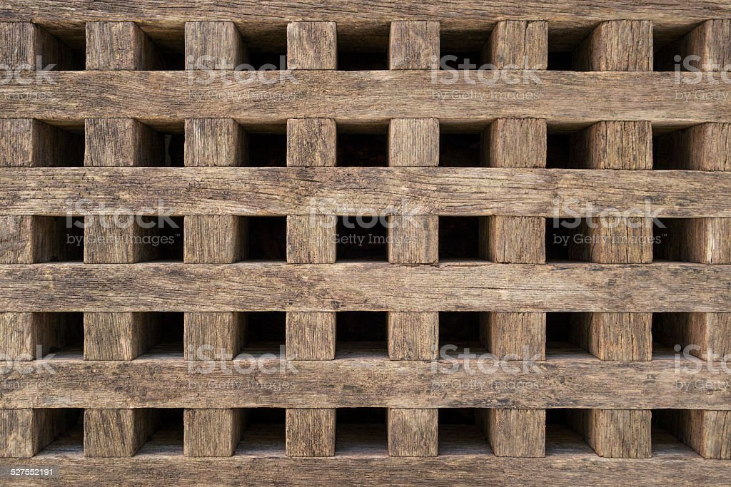 Coarse grid of wood royalty-free stock photo