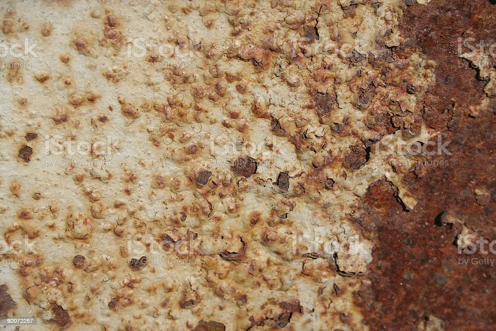 Coarse rust stock photo