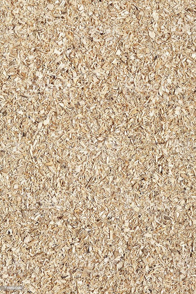 Coarse sawdust background stock photo
