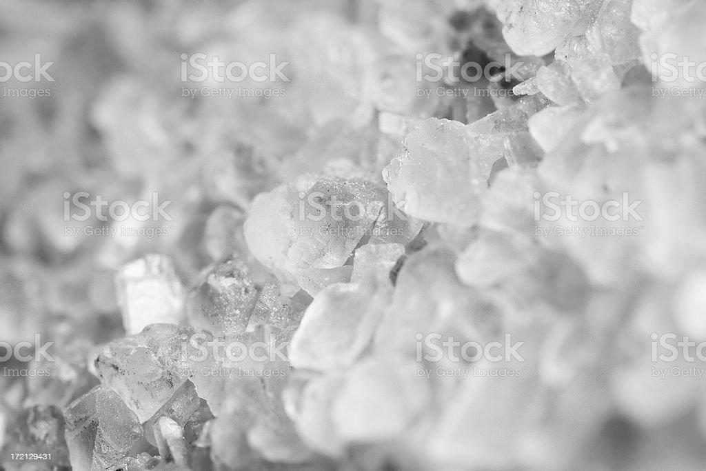 Coarse Sea Salt Macro royalty-free stock photo