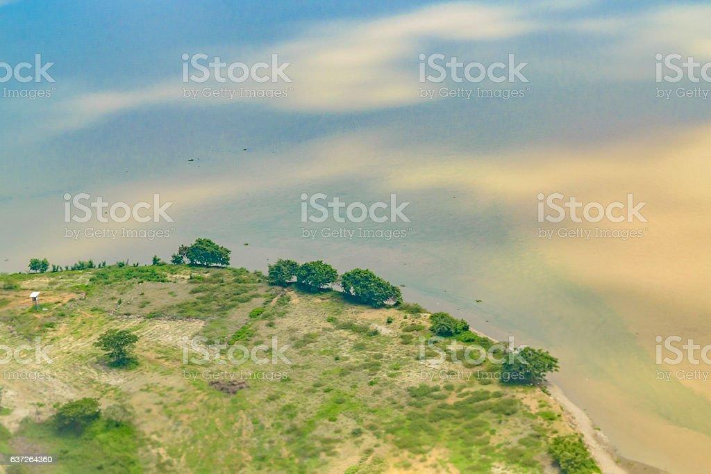 Coast Aerial View Guayaquil Ecuador stock photo