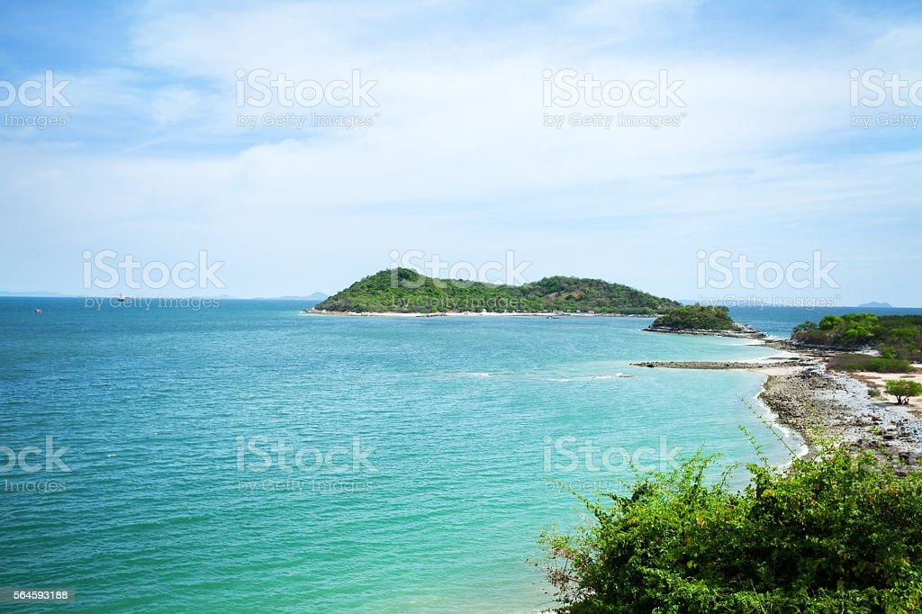 Coast and bay on Koh Sichang stock photo